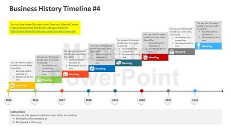 business history timeline editable powerpoint template