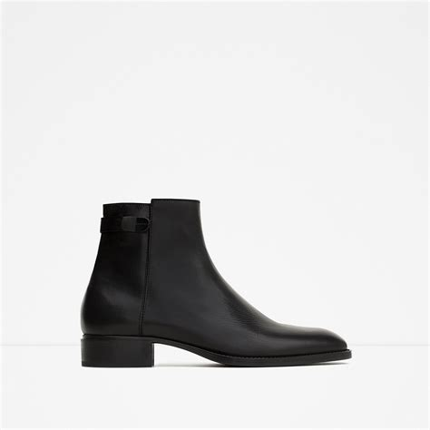 zara smart leather ankle boots smart leather ankle boots