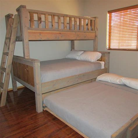 Custom Bunk Bed Plans Www Lakesideazcabin In Pinetop Lakeside Our Custom Built Bunk Bed Sleeps 5 On Top