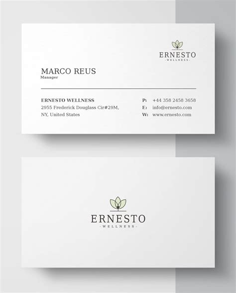 minimalist business card template creative corporate business card templates graphics