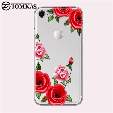 Floral Iphone 6 6s 7 8 X Plus tomkas flower for iphone x 8 7 6 6s 5 5s se floral