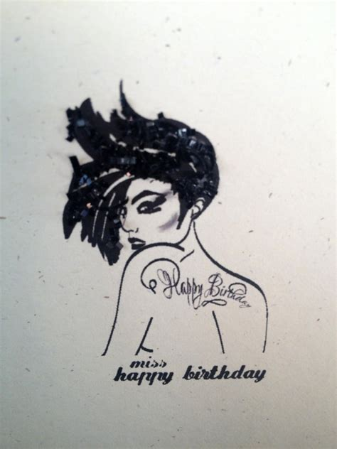 tattoo girl happy birthday miss happy birthday greeting card tattoo by