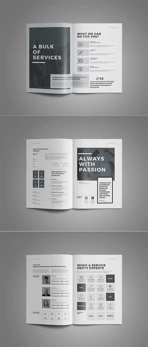 Proposal And Portfolio Templateminimal And Professional Proposal Brochure Template For Creative Adobe Indesign Templates