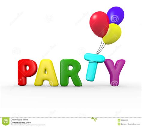 Party balloons stock photos image 36462233