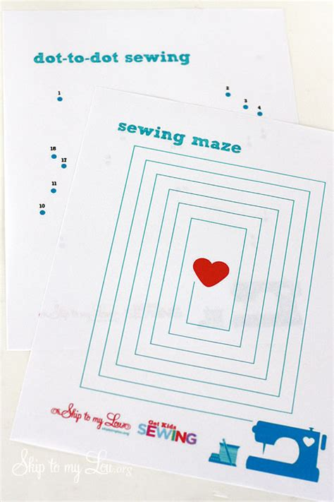 printable paper sewing practice sheets sewing activities for kids skip to my lou
