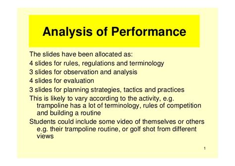 exle of analysis of performance powerpoint