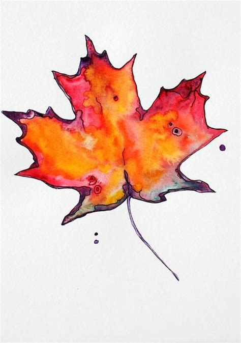 watercolor tattoo leaves maple leaf bu artist pat purdy tattoos