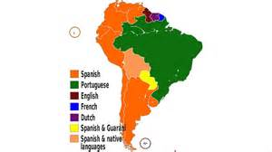 south america speaking countries map difference between south america and america