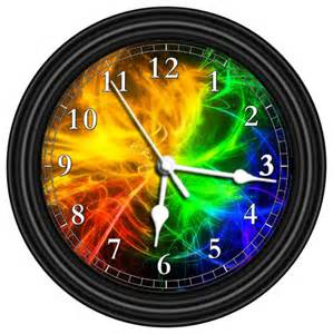 Homemade Tv Cabinet Multicolor Unique Wall Clock Contemporary Wall Clocks