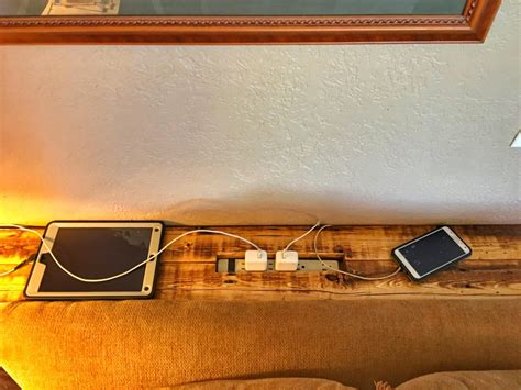 sofa table charging station diy pallet wood sofa table and charging station the