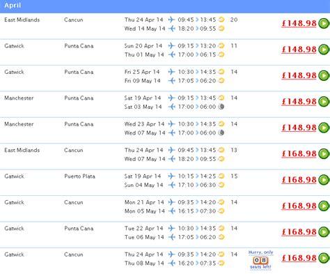 cheap flights  uk  caribbean