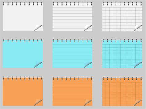 telecharger un bloc note pour le bureau bloc notes vecteur pack t 233 l 233 charger des vecteurs