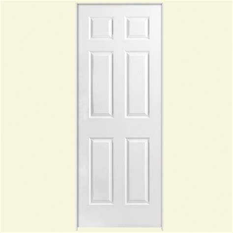 70 Inch Closet Doors Masonite 30 In X 80 In Solidoor 6 Panel Left Handed Solid Textured Primed Composite