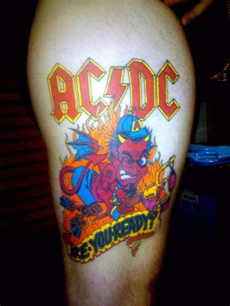 ac dc logo tattoo acdc are u ready tattoo