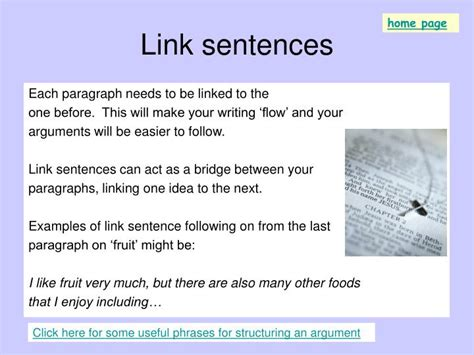 Linking Sentences In Essays Exles by Ppt Discovering Sentence Styles Structures For