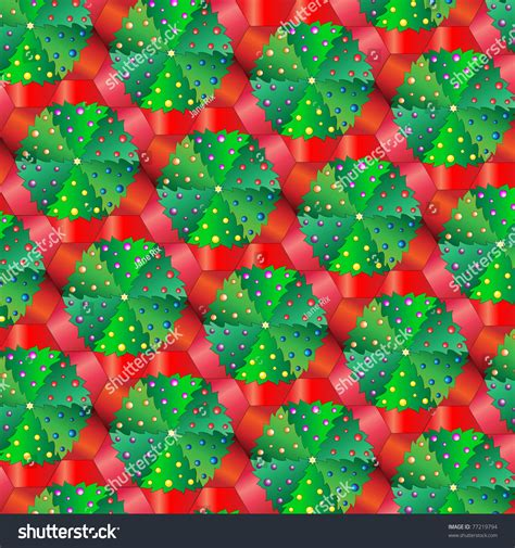 christmas tree tessellation pattern a vector illustration of christmas trees in pots