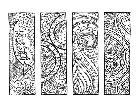 free printable zentangle bookmarks lofty inspiration bookmark coloring pages emejing
