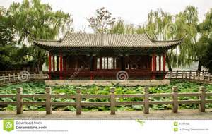 Patio Settings Casas Chinas Foto De Archivo Imagen 41761130