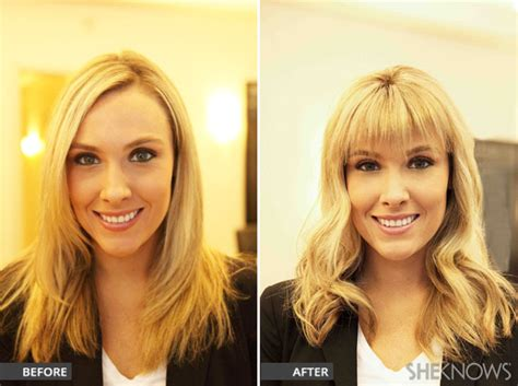bangs before and after how to get bangs without making the cut