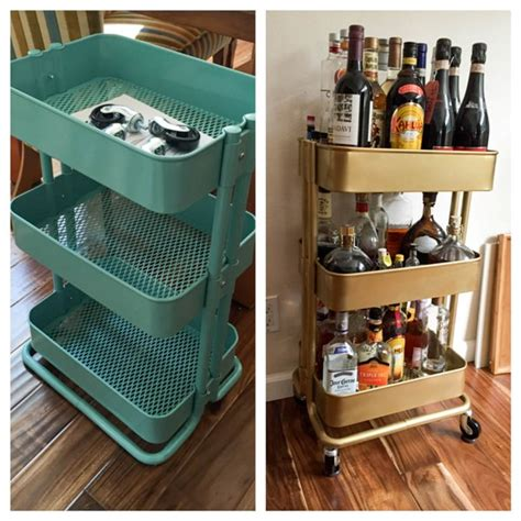 raskog cart hacks bar cart ikea hack this tale