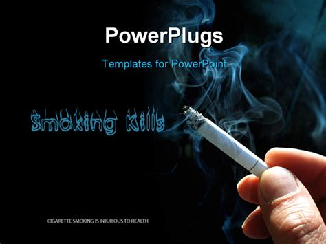 a smoking cigarette powerpoint template background of