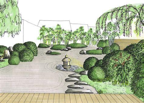 planung garten planung trockenlandschaftsgarten garten im teegartenstil