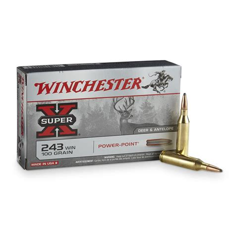The 100 Gr winchester x 243 winchester pp 100 grain 20 rounds 12118 243 winchester ammo at