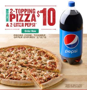 Papa John S Gift Card Deal - papa johns 10 for medium pizza and 2 liter plus gift card deal savings done simply
