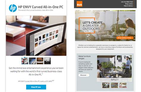 interactive email template interactive carousels in email hp envy b q outdoor