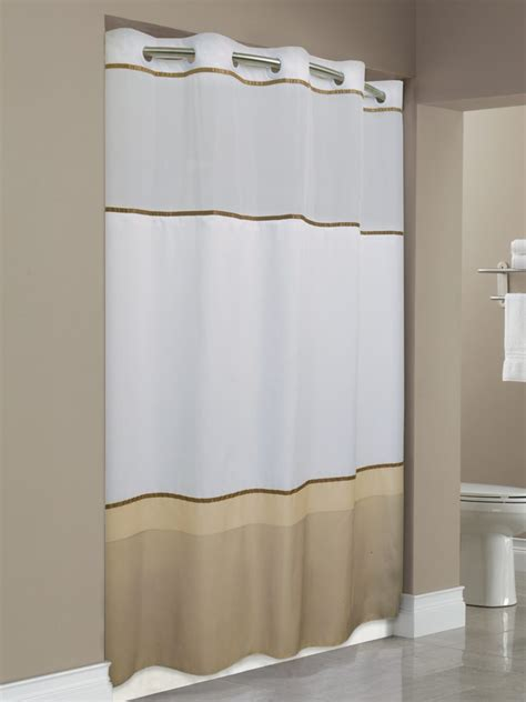 hotel shower curtains hookless focus products group the original hookless shower curtains