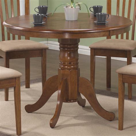 Coaster Kitchen Table Coaster Brannan 101091 Single Pedestal Dining Table Sol Furniture Kitchen Tables