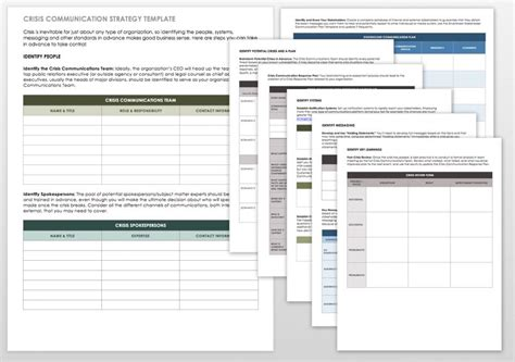 Free Communication Strategy Templates And Sles Smartsheet Communication Strategy Template Word