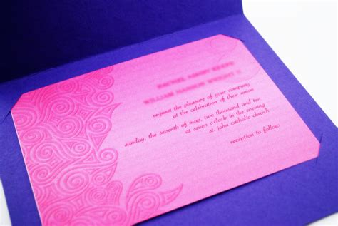 How To Make Handmade Invitation Cards - how to make a simple handmade wedding invitation 10 steps