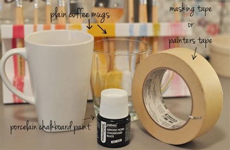 diy chalk paint mugs diy chalkboard mugs the small things