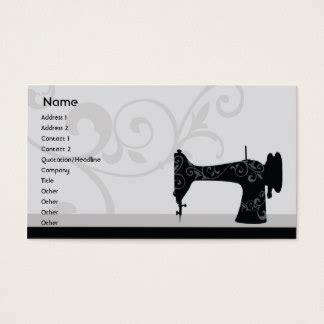 business card template sewing sewing machine business cards templates zazzle