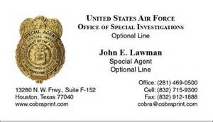 afosi business cards cobra printing productions afosi business cards