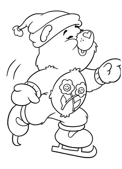 winter bear coloring page 72 winter bear coloring page disney winter coloring