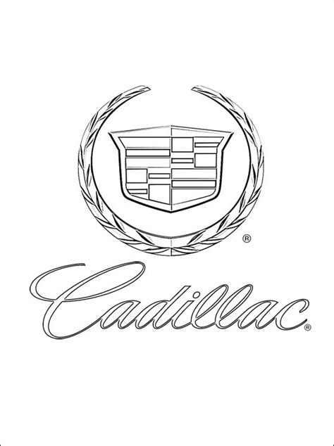 coloring page cadillac coloring pages