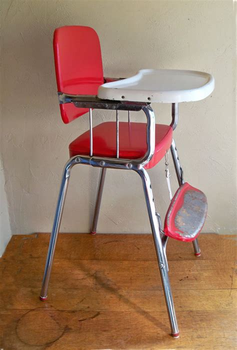 Vintage Cosco High Chair by Mid Century Cosco Baby High Chair Chrome Delight