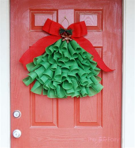 how to make a christmas door hanging on youtube diy burlap tree wall hanging the tiptoe