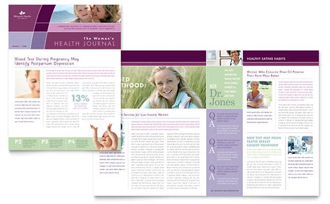 women s health clinic newsletter template word publisher