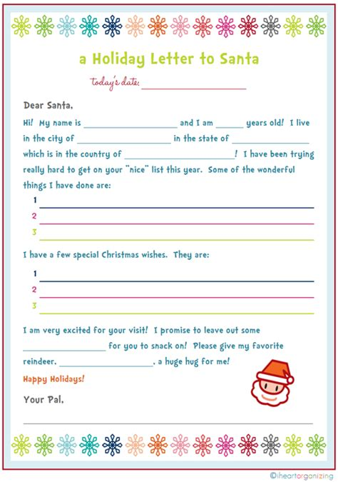 dear santa letter template free iheart organizing letter to santa a freebie and a