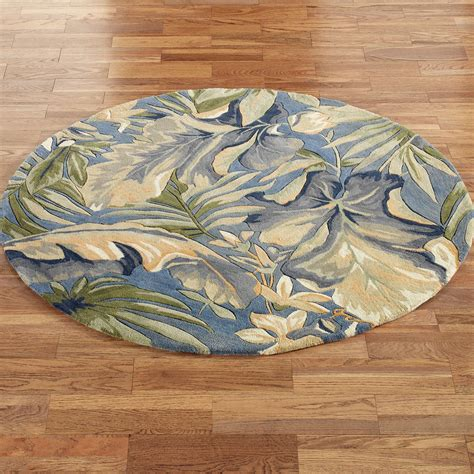 Paradise Blue Tropical Round Rugs Tropical Rugs
