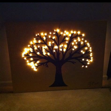Tree Wall Hanging With Lights - 25 best ideas about lighted canvas on