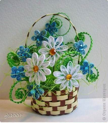 Paper Quilling Basket Tutorial | how to make woven paper quilling flower basket step by