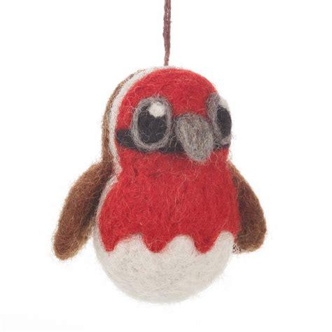 Handmade Felt - handmade felt robin by felt so