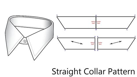 notes pattern making how to pattern a straight collar note b c is half the