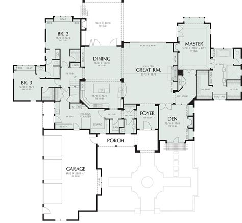 first floor plan house wayne 8292 4 bedrooms and 3 baths the house designers
