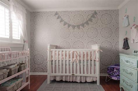 room stencils colette s shabby chic feminine nursery project nursery