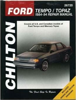 small engine maintenance and repair 1994 mercury topaz user handbook 1984 1994 ford tempo mercury topaz chilton s total car care manual